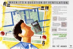 Illustration of an architect for ventilation ad