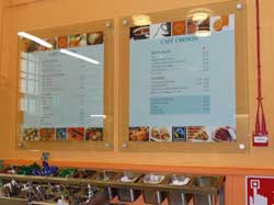 photo of Cafe Credon wall mounted menus